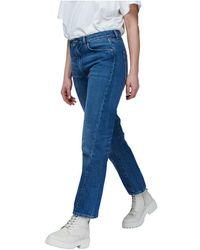 Totême Jeans Mid Waist - Blauw