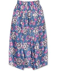 Isabel Marant Trousers With Floral Motif - Blauw