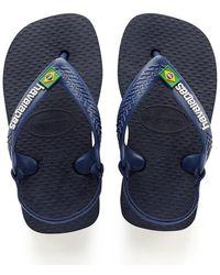 Havaianas Baby Flipflops Brasil Logo - Zwart