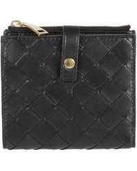 Bottega Veneta Ladies Wallet - Zwart