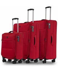 Conwood Soho suitcase set S + M + L - Rot