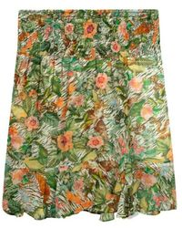 Alix The Label Rok Botanical Smocked Faded Army - Groen