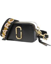 Marc Jacobs The Logo Strap Snapshot Small Camera Bag - Zwart