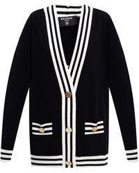 Balmain Vest Met Tasken - Zwart