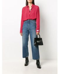 Golden Goose Deluxe Brand - Camisa Anna Regular Rojo - Lyst