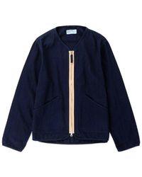 Universal Works Military Liner Jacket - Blau