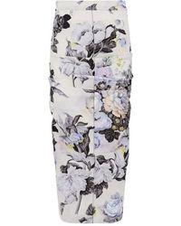 Sportmax - Tamaro Floral Print Skirt - Lyst