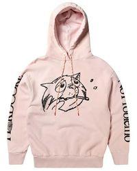 Aries Worried cat acid hoodie - Rose