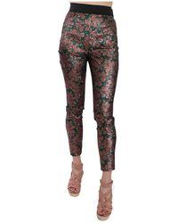 Dolce & Gabbana Brocade Pantalon Jacquard - Marron