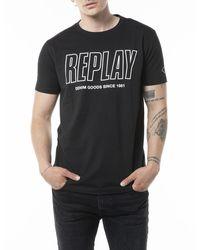 Replay T-shirt - Zwart