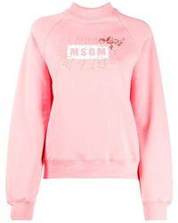 MSGM Logo Sweatshirt - Roze
