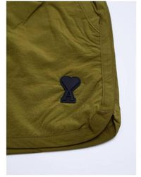 AMI Short swimsuit with heart logo Verde