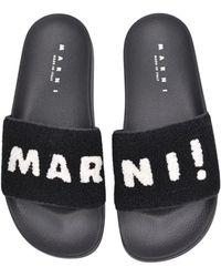 Marni Samr001302 Sandalia Logo Negro