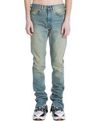 Off-White c/o Virgil Abloh Slim Split Jeans - Blauw