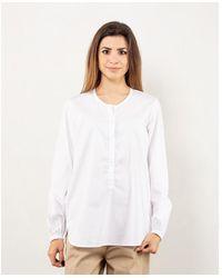 Bagutta Camicia serafino in cotone - Blanc