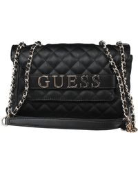 Guess Illy Cnvertible Crossbody Flap - Zwart
