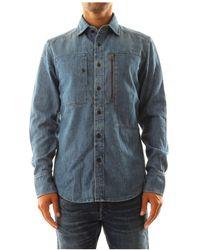 G-Star RAW D11260 D013 Powel Shirt Shirt Men Denim Medium Blue