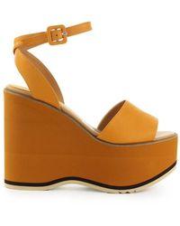 Paloma Barceló Maues Wedge Sandals - Oranje