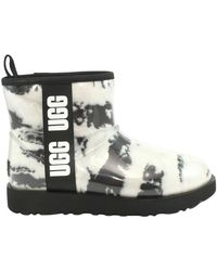 UGG Stivaletto Classic Clear Mini Marble - Wit