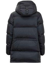 Burberry Hooded Puffer Coat Azul
