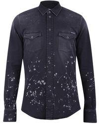 Dolce & Gabbana Denim Overhemd - Zwart