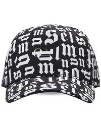 Palm Angels Branded Baseball Cap - Zwart