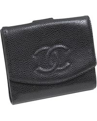 Chanel Vintage Portefeuille en cuir caviar - Noir