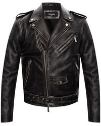 DSquared² Biker Jacket - Zwart