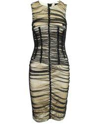 Dolce & Gabbana Tube Dress With Tulle - Zwart