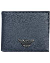 Emporio Armani Wallet Credit Card Bifold - Blauw