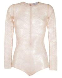RED Valentino Lace bodysuit - Neutre