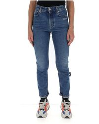 Off-White c/o Virgil Abloh - Jeans Met Rechte Pijpen En Geborduurd Logo - Lyst
