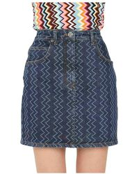 Missoni Mini Skirt - Blauw