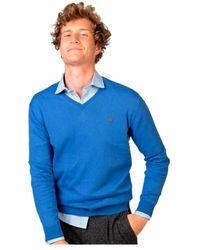 El Ganso Jersey Marca para hombres liso - Blu