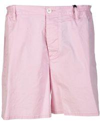 DSquared² Cotton Canvas Short Pants - Roze
