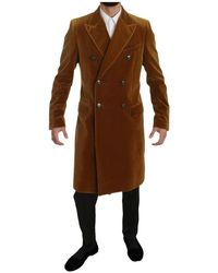 Dolce & Gabbana Chartreuse Long Trench Coat - Bruin