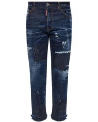 DSquared² 'cool Guy Jean' Jeans With Raw Edge - Blauw
