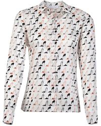 Louis and Mia Blouse - Wit