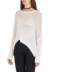 Isabel Benenato Pull oversize filet Blanco