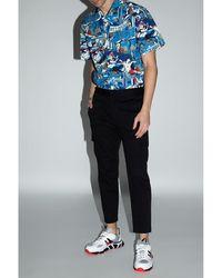 Iceberg Patterned shirt with short sleeves Azul