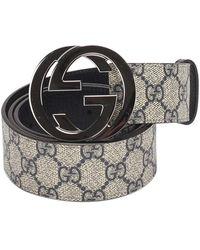 Gucci GG Supreme Belt - Bruin