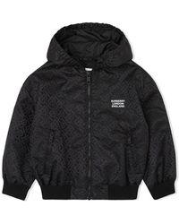 Burberry Full Zip Hooded Jacket - Zwart