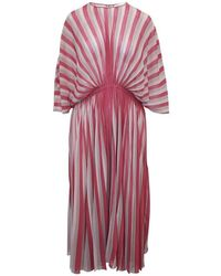 Dior Striped Pleated Dress Pre Owned Condition Very Good - Rosa