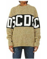 Gcds Lurex Sweater Logo Sweater Cc94m022202 - Geel