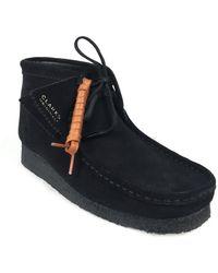 Clarks Wallabee Boot Suede - Zwart
