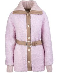 Marni Belted Virgin Wool-blend Coat - Roze