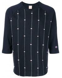 Pieces Crewneck T-Shirt - Bleu
