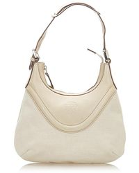 Gucci Crest Hobo Bag Leather Calf - Wit