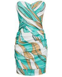 Elisabetta Franchi - Ab02402E2 Dress Women Tiffany/cammello - Lyst