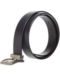 Emporio Armani Cinturón de piel reversible Negro